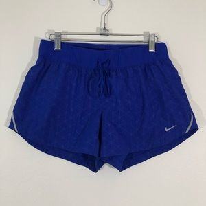 Nike Dri-Fit Medium Purple Geo Running Shorts